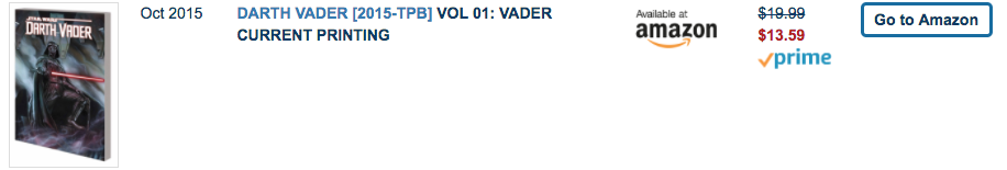 Darth Vader Trade Paperback Available on Amazon