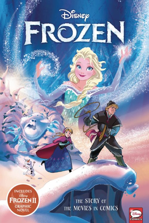 DISNEY FROZEN AND FROZEN II: THE STORY OF THE MOVIES IN COMICS