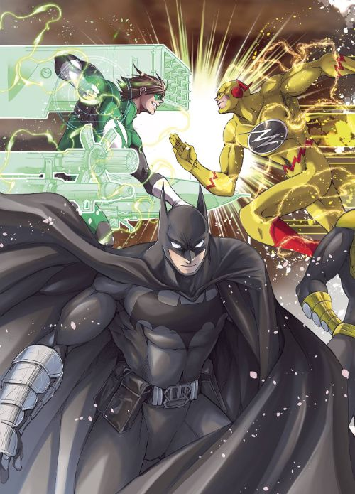 BATMAN AND THE JUSTICE LEAGUE MANGA VOL 03