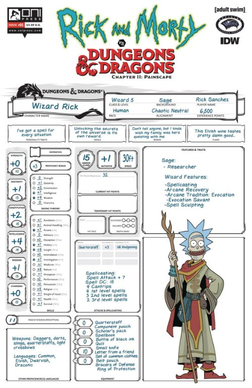 RICK AND MORTY VS. DUNGEONS AND DRAGONS II: PAINSCAPE#1