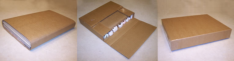 Sturdy Box with Protection for Comics in Transit