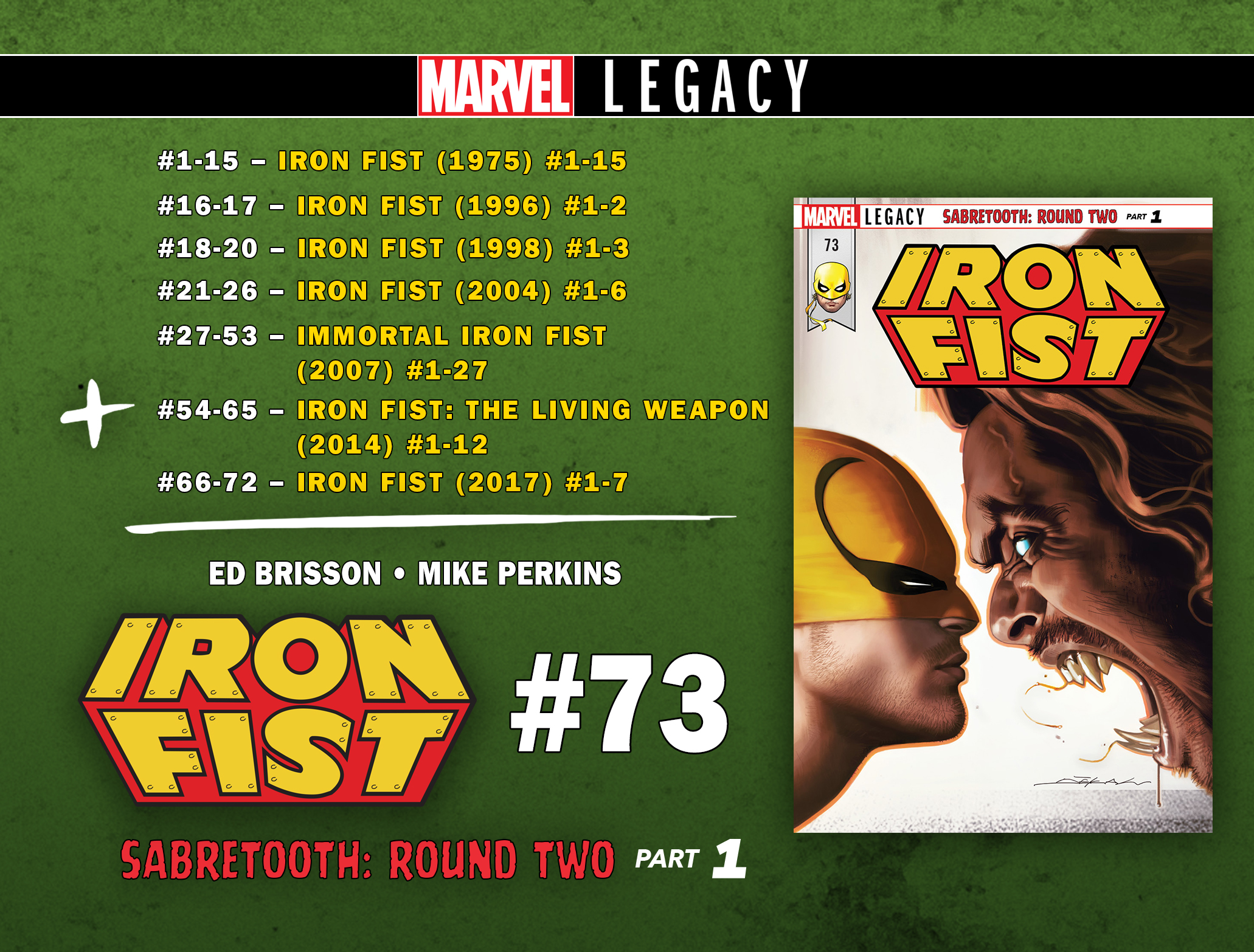 Current Series cover for IRON FIST