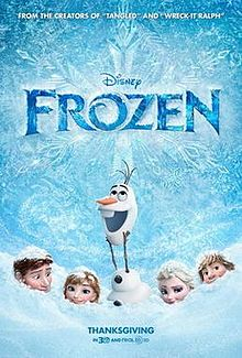 Media source material cover for FROZEN